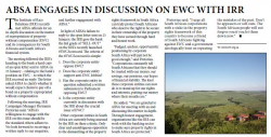 ABSA Engages In Discussions On EWC With IRR