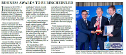 Business Awards to be rescheduled