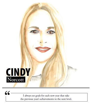Cindy Norcott - I always set goals for each new year that take the previous year's achievements to the next level
