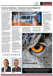 Cox Yeats Opens Johannesburg Office