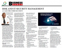 Felix Mahlangu - Risk and IT security management a case for cyber security