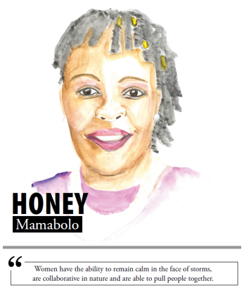 Honey Mamabolo - Women have the ability to remain calm in the face of storms, are collaborative in nature and are able to pull people together