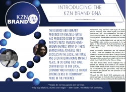 INTRODUCING THE KZN BRAND DNA