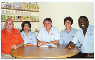 Orange Grove Management Team From left to right: Guy Devereux, Beverley Christians, Dave Durham and Sue Durham and Jabulani Khanyile