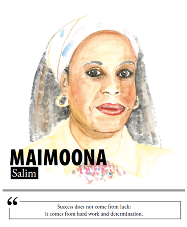Maimoona Salim - Success does not come from luck; it comes from hard work and determination
