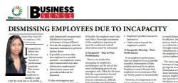 Nikita Pillay - Dismissing employees due to incapacity
