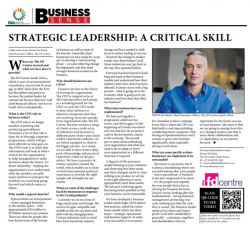 Rowan de Klerk - Strategic leadership: a critical skill