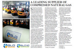 SLG - A Leading Supplier Of Compressed Natural Gas