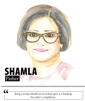 Shamla Pather - Being a woman should not be looked upon as a handicap but rather a compliment