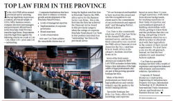 Top law firm in the province - Cox Yeats